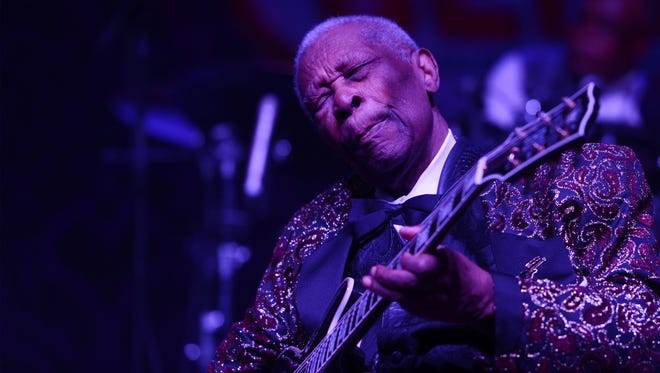 B.B. King performs at the 2014 Big Blues Bender at the Rivera Hotel & Casino on September 26, 2014 in Las Vegas, Nevada.