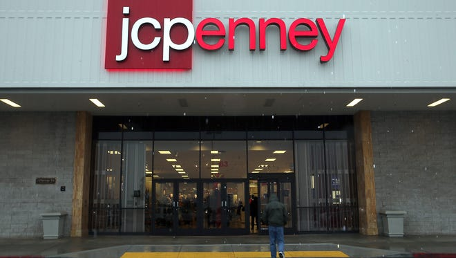 J.C. Penney's fourth-quarter sales rose slightly, its first gain since 2011.