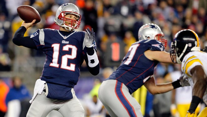 Tom Brady had a huge day in piling up 55 points on the Steelers.