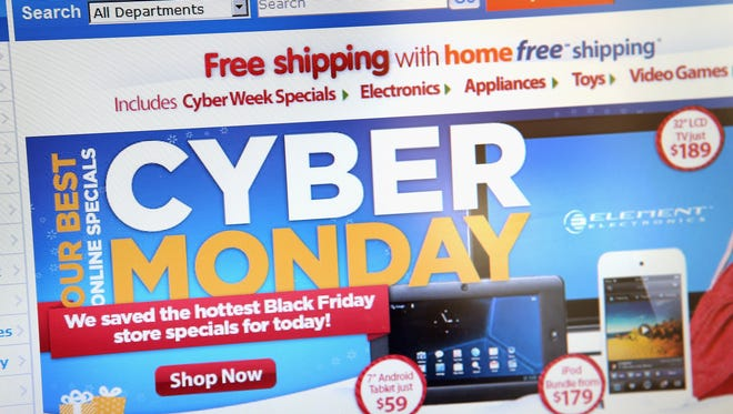 Walmart advertises Cyber Monday sales on the company's website.