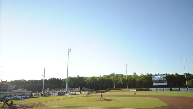 The Lakeshore Chinooks play at Kapco Park at Concordia University in Mequon.