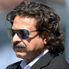 Sep 15, 2013; Oakland, CA, USA; Jacksonville Jaguars owner Shahid Khan attends the game against the Oakland Raiders at O.co Coliseum.