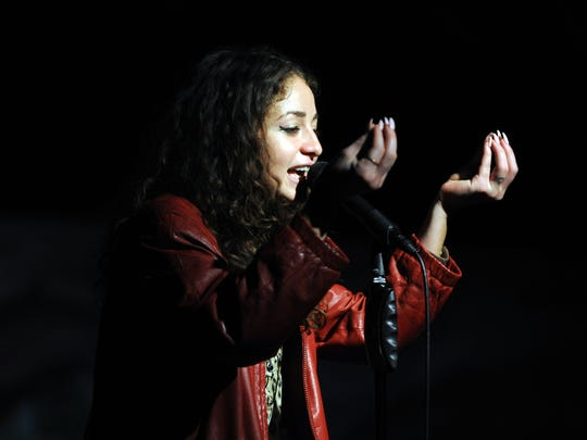 San Francisco hip-hop singer Chhoti Maa at Noche de le Virgen Tonantzin, a live performance event on Monday, December 12th at the Alisal Center for the Fine Arts in east Salinas.