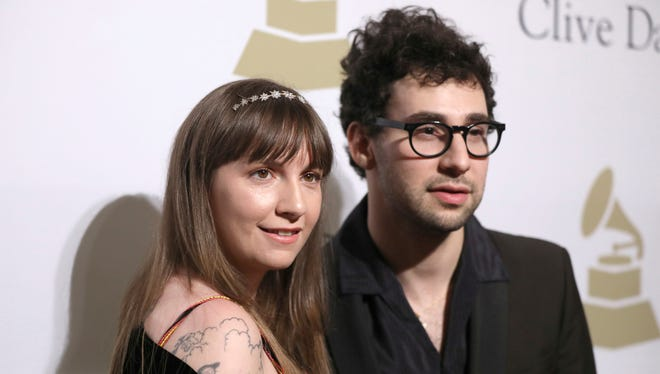Lena Dunham and Jack Antonoff, in Beverly Hills last February, have broken up.