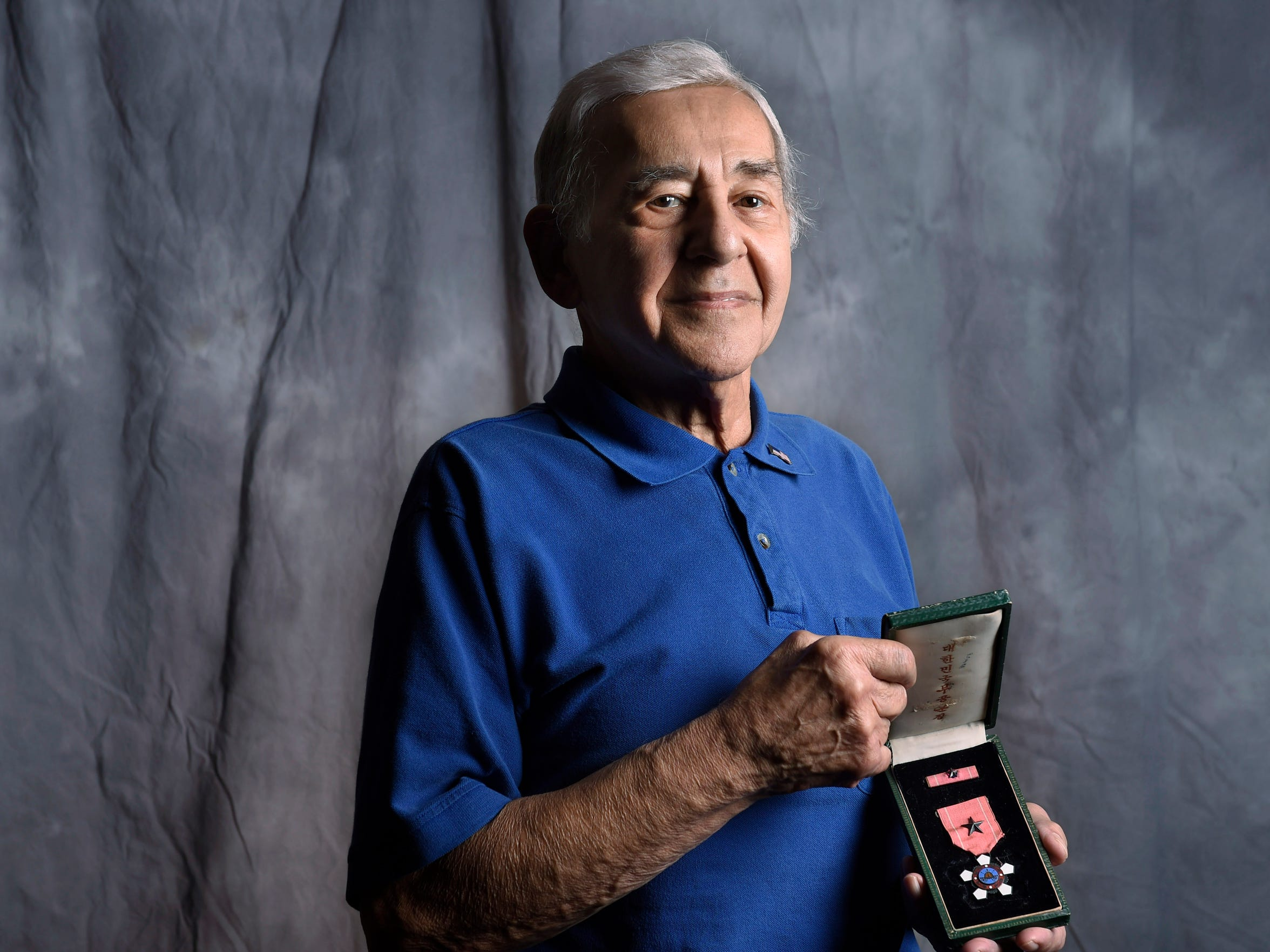 Ray Kalil served in the Army during the Korean War. His platoon supported the South Korean military, and they were stationed on a hill that almost got overrun by the Chinese military. He has a South Korean Silver Star for his efforts.