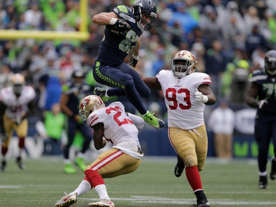 Luke Willson looked more like an All-Pro tight end than Jimmy Graham during Sunday's win over San Francisco.