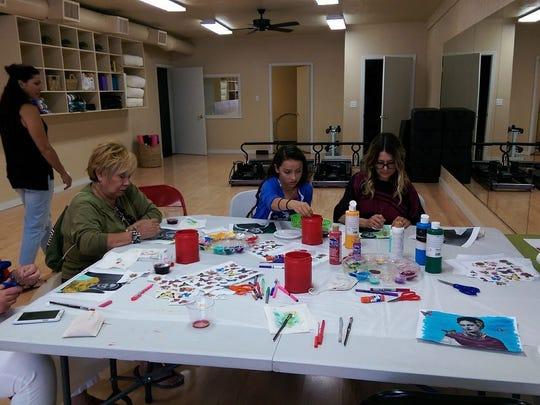 The Oak Street Fitness art class taught by Amy Figueroa