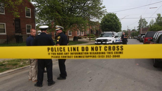 One male was shot in the arm and lower back in Winton Hills Thursday afternoon.