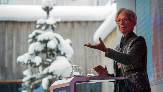 International Monetary Fund Managing Director Christine Lagarde at the World Economic Forum annual meeting in Davos, on Jan. 20.