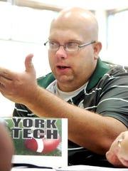 York Tech football coach Brian Hanson was fired after