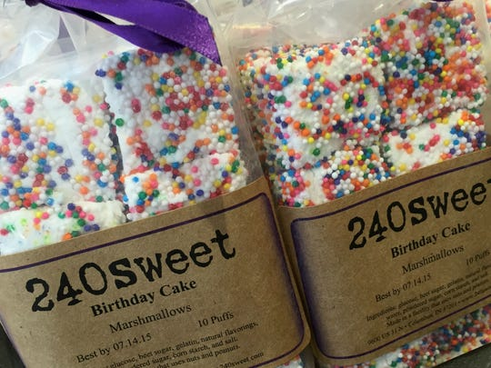 Birthday Cake is one of more than 200 flavors in the 240Sweet recipe box. Salty caramel swirl is one of the Columbus, Ind., company's most popular flavors.