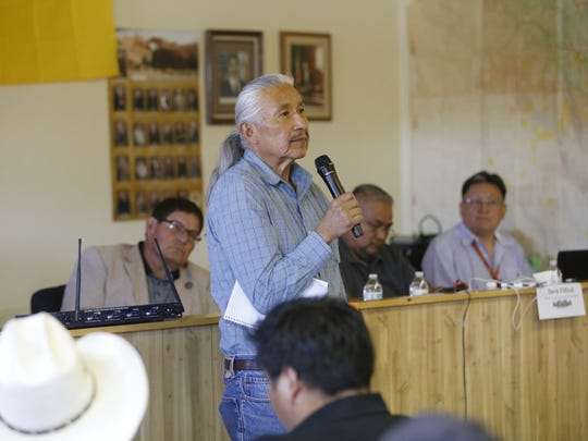 Edward Wemytewa spoke about changes in the environment that are happening at Zuni Pueblo that he says are related to drilling. He shared his concerns during the public hearing on Monday at the Counselor Chapter house.