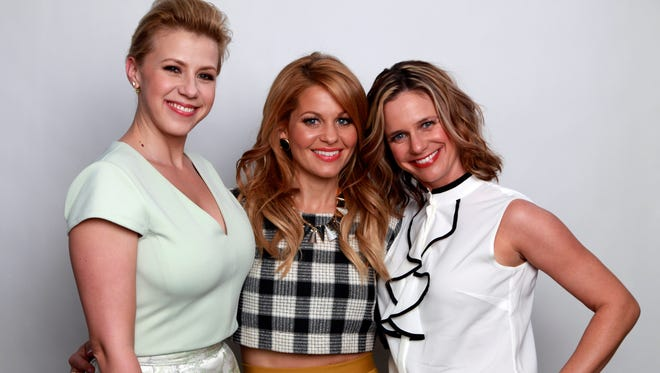 'Fuller House' reunites Jodie Sweetin, left, Candace Cameron Bure and Andrea Barber.