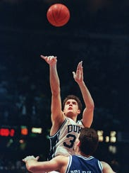 In this March 28, 1992 file photo, Duke's Christian