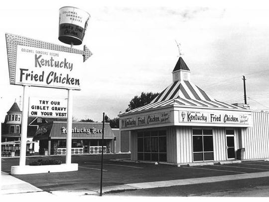 Kentucky Fried Chicken and Kentucky Beef on North Main Street in Oshkosh, now Dr. Benzie's and Pilora's