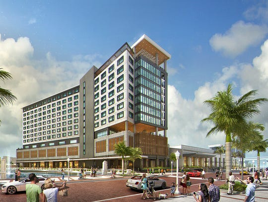 Rendering of Luminary Hotel, downtown Fort Myers.