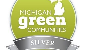 The city of Battle Creek received a silver medal in the Michigan Green Communities Challenge.