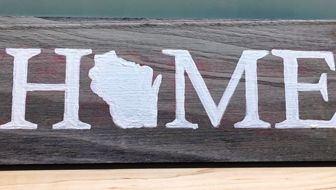 """Crafters will hand-paint a rustic wooden sign at the Saturday, Feb. 17, Craftermorning program at the Fond du Lac Public Library. Free; supplies provided and open to adults and teens age 13 and older. Space is limited. Sign-up starts is open online at fdlpl.org, click """"Calendar."""""""