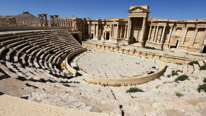 Islamic State destroys more ancient monuments in Palmyra