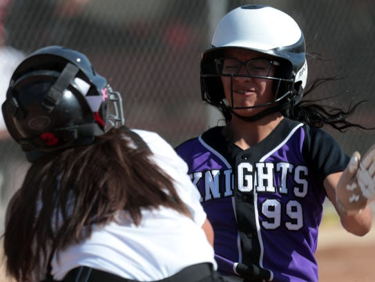 Palm Springs and Shadow Hills softball action on Friday,
