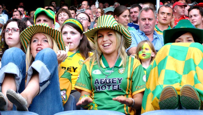 Attending a Gaelic football match at Dublin's Croke Park is a great way to meet new Irish friends — as long as you root for the same side.