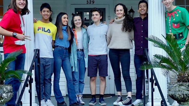 Exchange students in 2019-20 from eight countries suddenly had to return to their home countries in March due to COVID-19. Pictured, from left, are: Felipe Kauer (Brazil), Max Udompithayakom (Thailand), Chiara Corradini (Italy), Marla Elger (Germany), Josef Lizr (Czech Republic), Irene Petris (Spain), Wayra Bustamante Ochoa (Bolivia), and Levi Lendvai (Hungary). Kauer, Lendvai and Petris attended Richmond Hill High School. Corradini, Udompithayakom and Lizr were at Savannah Arts Academy. Bustamante Ochoa and Elger were at Woodville-Tompkins High School.