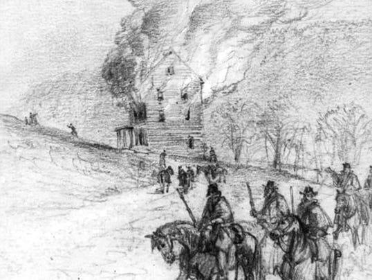 burning of mill Civil War L of C.jpg