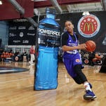 Mar 30, 2015; Chicago, IL, USA; McDonalds All American participant Asia Durr dribbles through obstacles during the McDonalds All American Powerade Jamfest at the University of Chicago. Mandatory Credit: Brian Spurlock-USA TODAY Sports