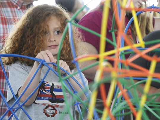 Kids crafts are part of the Maker Faire at The Henry
