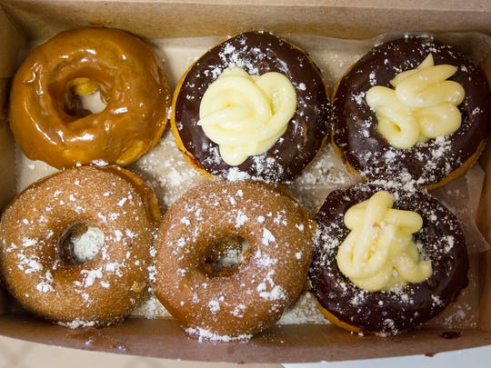 A fresh order of doughnuts from Shore Good Donuts in