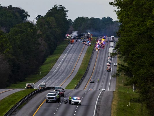 Fatal Crash Interstate Fire Florida