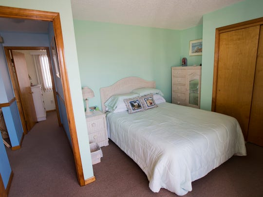 The bedroom in Ralph Hook's condominium in the Ortley Beach section of Toms River, which he rents to summer tourists.