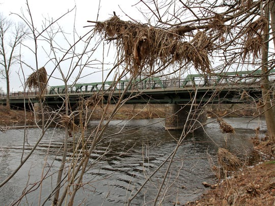 Debris caught in tree branches, shows how high the water gets along the Raritan River in the North Branch section of Branchburg. The first Raritan River Week is to be held April 18-25.
