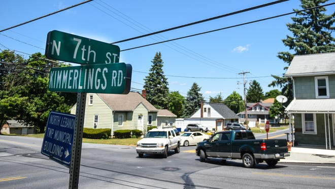 This is the intersection at North Seventh Street and Kimmerlings and Kochender roads in North Lebanon Township, pictured on Tuesday, July 19, 2016. North Lebanon resident Steve Erb asked the Board of Supervisors to consider taking action needed to install a traffic signal at the intersection.