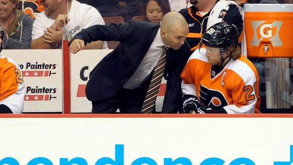 Ian Laperriere will be back next season as part of Dave Hakstol's staff.