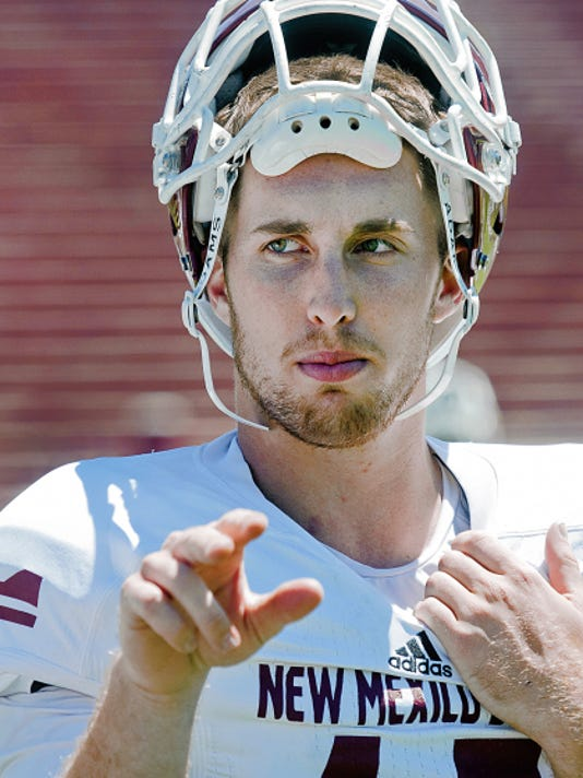 Gary Mook/For the Las Cruces Sun-News   New Mexico State junior quarterback Tyler Rogers need to show more consistency for the Aggies to compete in 2015.