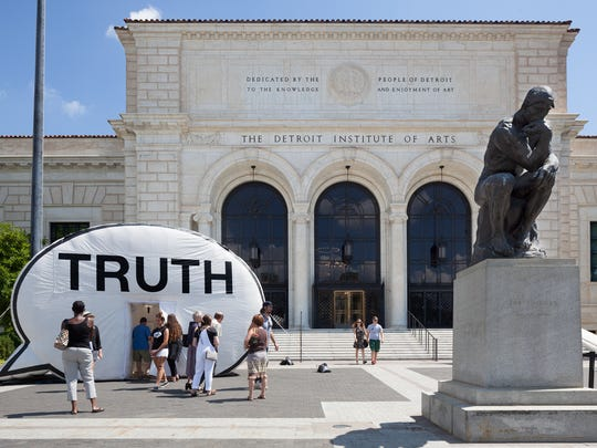 The Truth Booth stopped at the Detroit Institute of Arts.