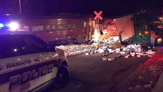 A train slammed into a tractor-trailer in Sloatsburg on Jan. 21, 2020.