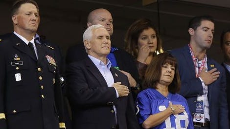 Vice President Mike Pence at the Colts-49ers game...that he left