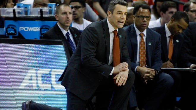 Virginia Cavaliers head coach Tony Bennett during the first half against the Michigan State Spartans on Sunday.