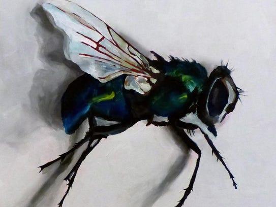 Artist Krysti Spence will have paintings like this