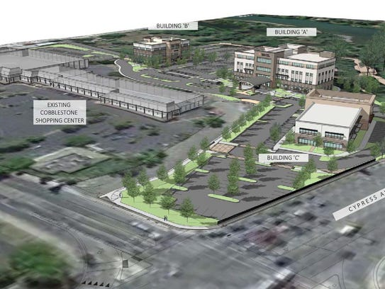This rendering shows where the Dignity Health project