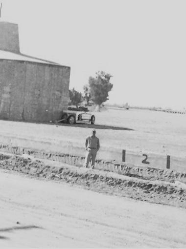 Cotton Storage bins (left) were used in connection with Gilbert's first cotton gin, at right edge of picture.