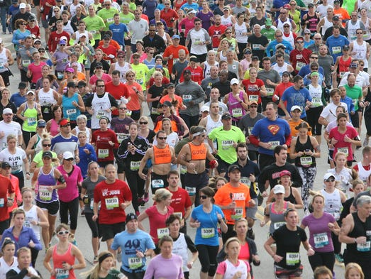 December 1, 2012 -  A sea of runners at the St. Jude