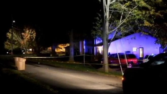 Police responded to a shots fired called Tuesday night on Charles Road, where they found a man dead in a car.