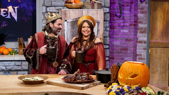 Rachael Ray and her kingly husband, John Cusimano.