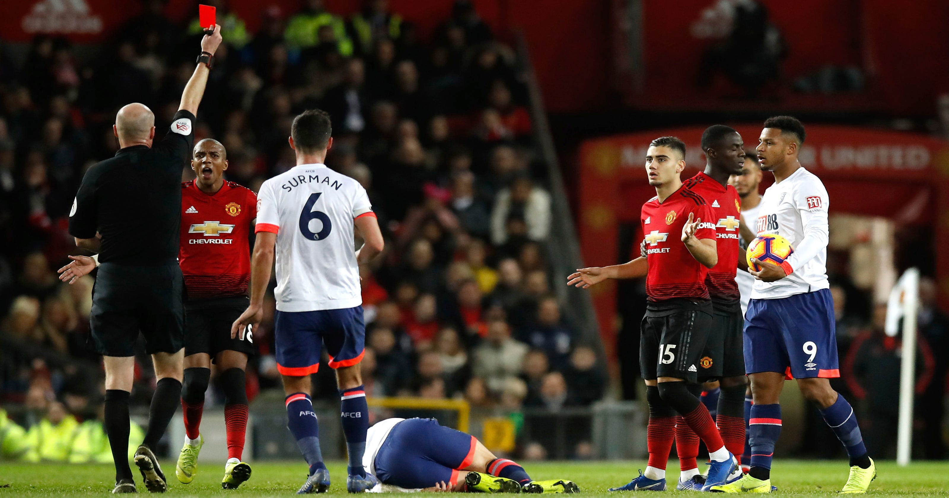 96a2851b0dc Pogba leads resurgent Man United to 4-1 win over Bournemouth