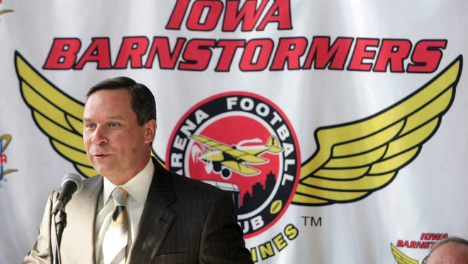 Barnstormers owner Jeff Lamberti is shown at a 2007 press conference.