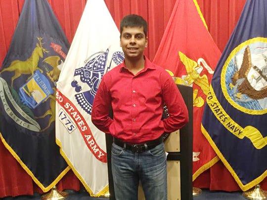 Raheel Siddiqui, 20, of Taylor, died during U.S. Marines