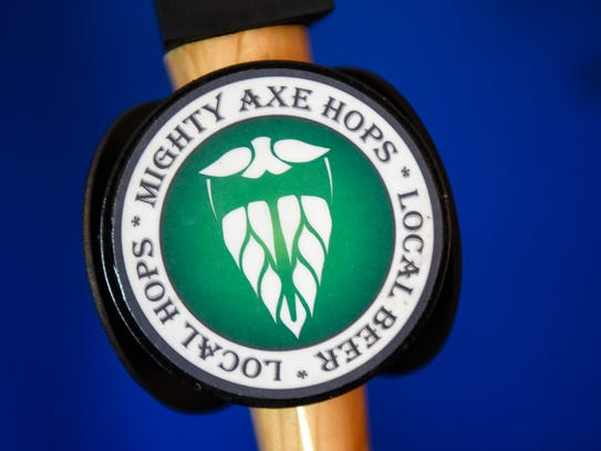 The Mighty Axe Hops farm is situated on 80 acres of